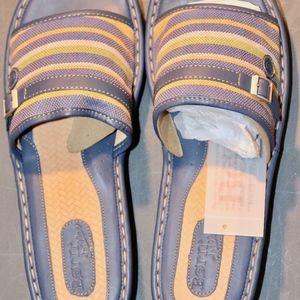Multicolor Blue Leather Espadrilles Sandals
